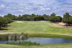 Golf course on Vilamoura, Portugal Royalty Free Stock Photo