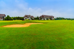 Golf Course Villa Stock Image