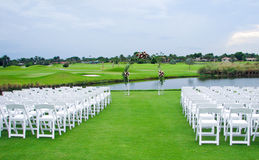 Golf Course Wedding Stock Photo