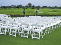 Golf Course Wedding Stock Image