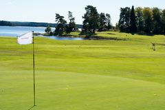 Golf course on the west coast,Sweden royalty free stock photo