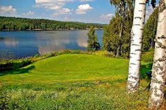 Golf course West Sweden. Stock Photo