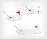 Golf course white illustration Royalty Free Stock Images