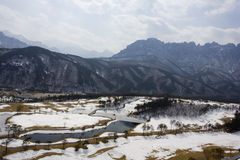 Golf course in winter. Del Pino Golf and Resort, Goseong, South Korea Stock Photo