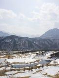 Golf course in winter. Del Pino Golf and Resort, Goseong, South Korea Stock Photos