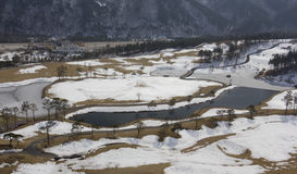 Golf course in winter. Del Pino Golf and Resort, Goseong, South Korea Stock Photography