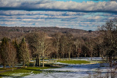 Golf course in the winter time. Royalty Free Stock Image
