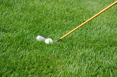 Golf courses, and the green grass. Golf ball movement.Golf courses, and the green grass Royalty Free Stock Photography