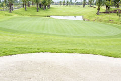 Golf courses , green grass. In Thailand Stock Photos