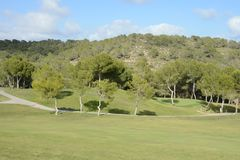 Golf courses in Orihuela Costa Royalty Free Stock Photo