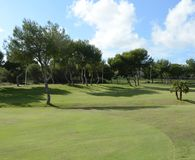 Golf courses in Orihuela Costa Royalty Free Stock Photography