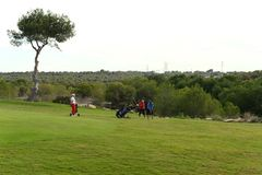Golf courses in Orihuela Costa. ORIHUELA COSTA, SPAIN - OCTOBER 12, 2014: Golf courses in Orihuela Costa. Orihuela Costa is recognized as the most ecological Stock Photography