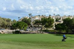 Golf courses in Orihuela Costa Stock Photos