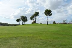 Golf courses in Orihuela Costa. ORIHUELA COSTA, SPAIN - OCTOBER 12, 2014: Golf courses in Orihuela Costa. Orihuela Costa is recognized as the most ecological Royalty Free Stock Image