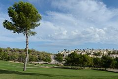 Golf courses in Orihuela Costa. ORIHUELA COSTA, SPAIN - OCTOBER 12, 2014: Golf courses in Orihuela Costa. Orihuela Costa is recognized as the most ecological Royalty Free Stock Images
