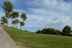 Golf courses in Orihuela Costa Stock Image