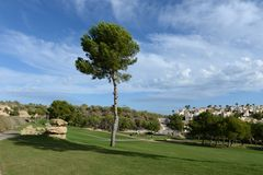Golf courses in Orihuela Costa Royalty Free Stock Image
