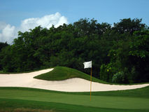 Golf court. The 18th hole Stock Photography