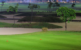 Golf court at night Royalty Free Stock Photo