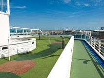 Golf court on the ship Stock Image