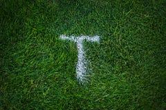 Golf court, sign on the green grass. Golf land, sign on the green grass Stock Images