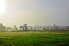 Golf court and view on early morning Stock Photography