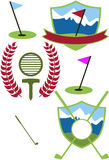 Golf Crests Royalty Free Stock Photography