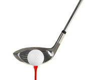Golf Cub. Golf club with a golf ball on a tee on a white background Royalty Free Stock Photo