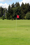 Golf - cup, ball, fanion Stock Photos