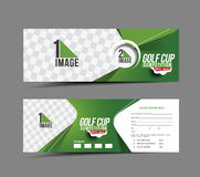 Golf Cup Banner Stock Photos