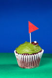 Golf cupcake Royalty Free Stock Images