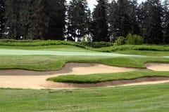 golf cursus stock afbeeldingen