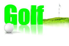Golf 3D Immagine Stock Libera da Diritti