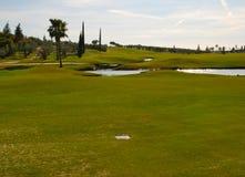 Golf d'herbe et de lac Photo libre de droits