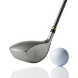 golf de club de bille Images libres de droits