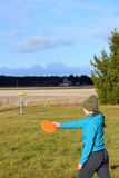 Golf de frisbee photographie stock libre de droits