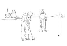 Golf de jeu d'amis Photos libres de droits
