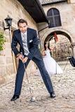 Golf de la boda Imágenes de archivo libres de regalías