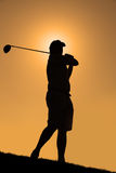 Golf de la salida del sol Fotografía de archivo libre de regalías