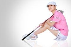 Golf de las muchachas Foto de archivo