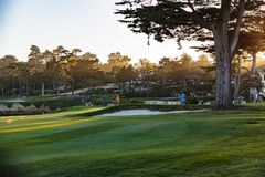 Golf de Pebble Beach Photographie stock libre de droits