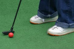 Golf de putt de putt Photos stock