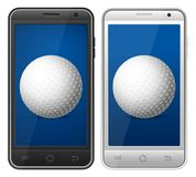 Golf de Smartphone ilustración del vector