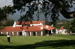 Golf del club de campo Imágenes de archivo libres de regalías