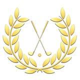 Golf del deporte de la guirnalda del laurel en un fondo blanco ilustración del vector
