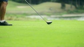 Golf del tiroteo del golfista almacen de metraje de vídeo