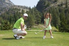 Golf della famiglia Fotografie Stock Libere da Diritti