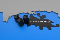 Golf der Mexiko-Schmierölgraphik lizenzfreie abbildung
