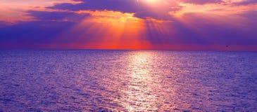 Golf des Mexiko-Sonnenuntergangs lizenzfreie stockbilder