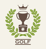 Golf design Stock Photography
